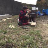 竹を切った後